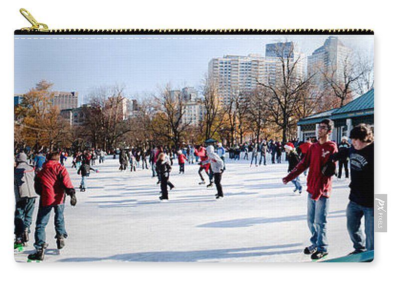 Boston Carry-all Pouch featuring the photograph Frog Pond Skating Rink Boston by Thomas Marchessault
