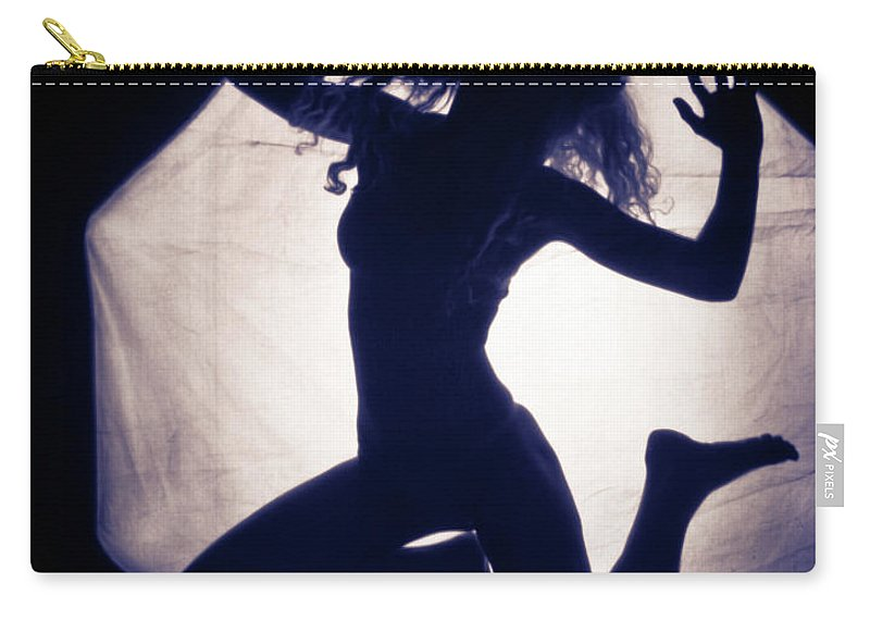 Jumping Carry-all Pouch featuring the photograph Frollicing by Scott Sawyer