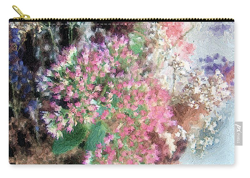Basket Carry-all Pouch featuring the digital art From Her Secret Admirer by RC DeWinter