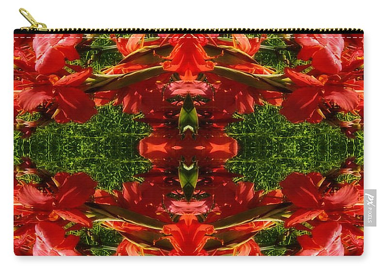 From Outer Space Carry-all Pouch featuring the digital art From Outer Space by Mariola Bitner