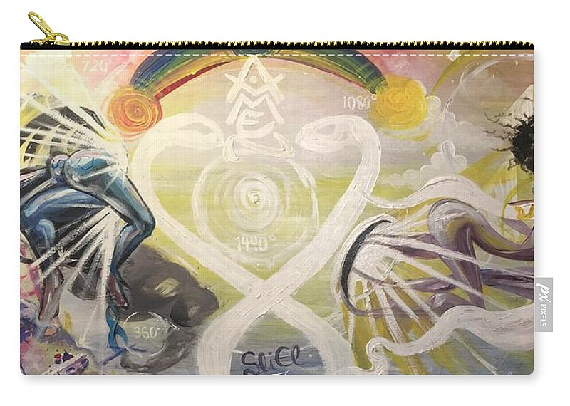 Spiritual Carry-all Pouch featuring the painting From Revelations To Transformation by Sean Ivy aka Afro Art Ivy