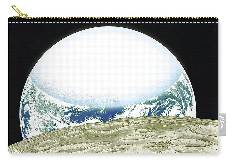 From Space Carry-all Pouch featuring the digital art From Space by Dorothy Binder