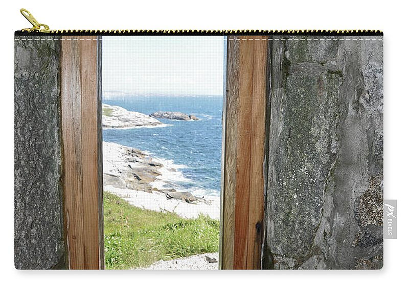 Lighthouse Carry-all Pouch featuring the photograph From The Lighthouse by Colleen English