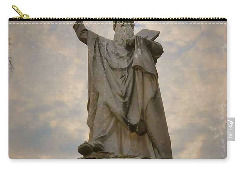 Moses Carry-all Pouch featuring the photograph From The Mountain On High by Bill Cannon