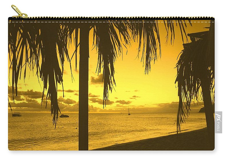 Sunset Carry-all Pouch featuring the photograph From The Shiggady Shack by Ian MacDonald