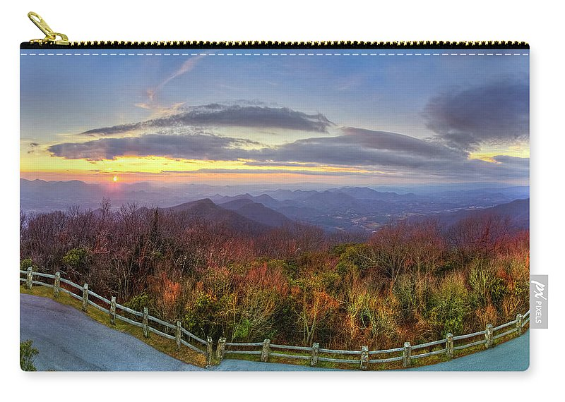 Appalachia Carry-all Pouch featuring the photograph From The Top Of Brasstown Bald by Debra and Dave Vanderlaan