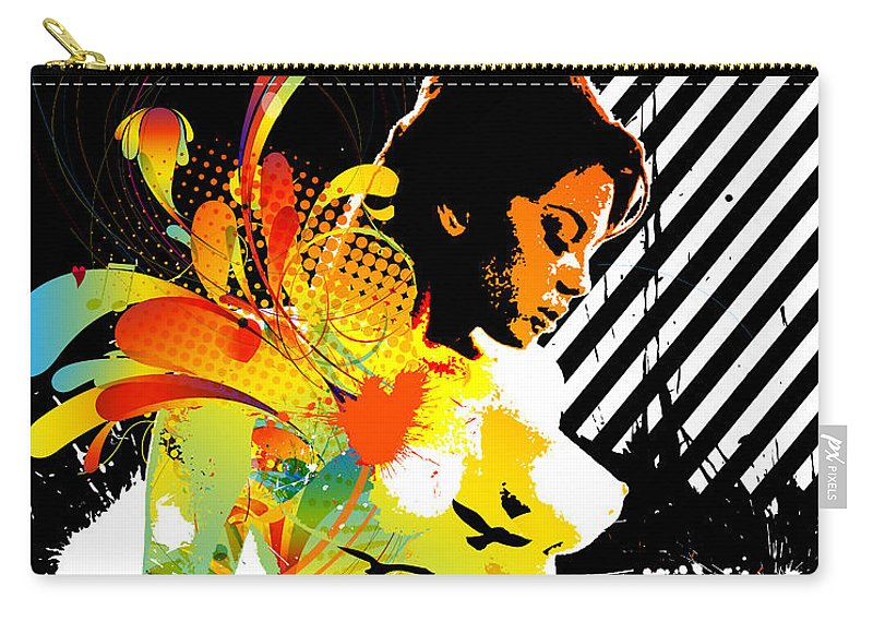 Nostalgic Seduction Carry-all Pouch featuring the digital art From Within by Chris Andruskiewicz