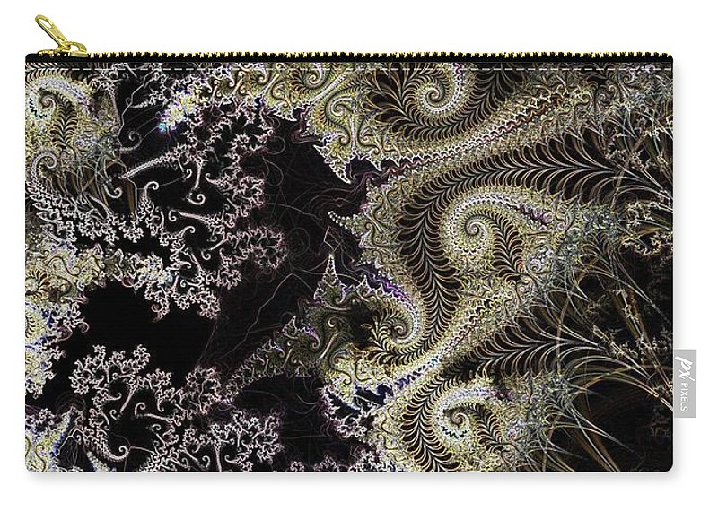 Fronds Carry-all Pouch featuring the digital art Fronds by Ron Bissett