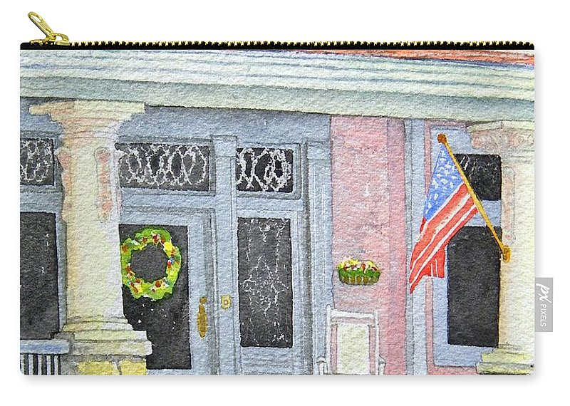 Front Porch Carry-all Pouch featuring the painting Front Porch by Gale Cochran-Smith