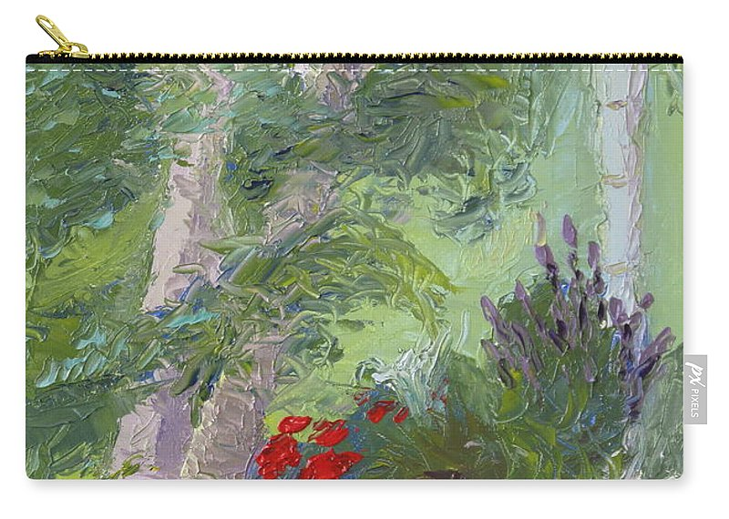 Porch Painting Carry-all Pouch featuring the painting Front Porch View by Lea Novak