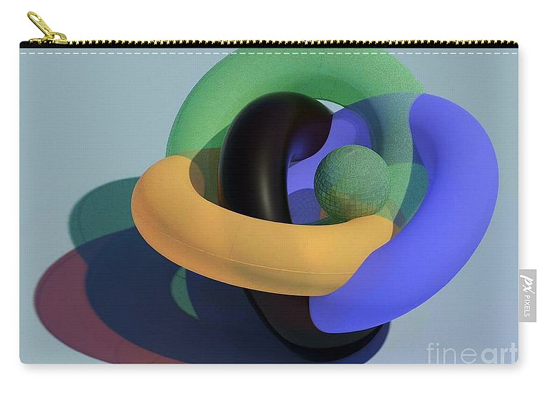 Torus Carry-all Pouch featuring the glass art Frosted Glass Toruses by Ron Bissett