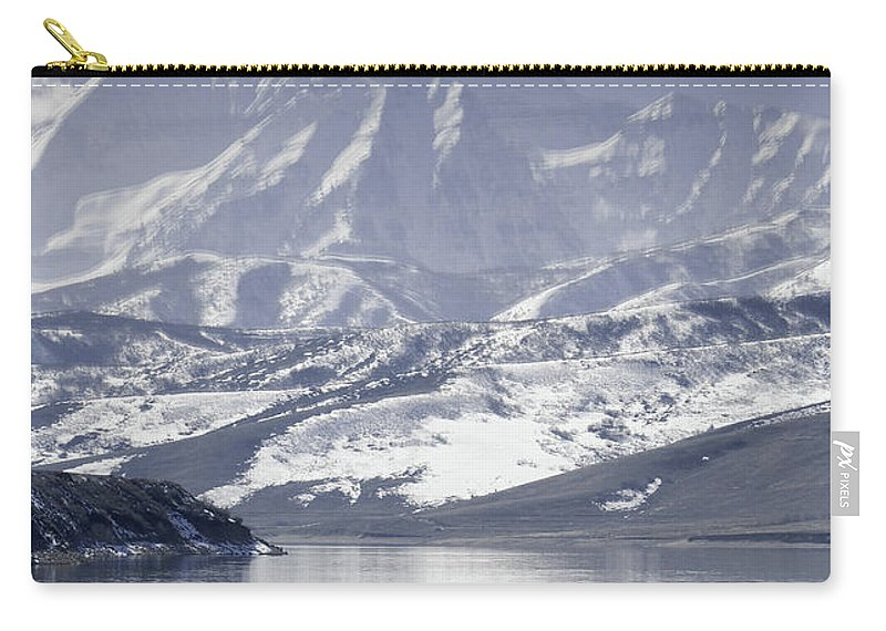 Mountains Carry-all Pouch featuring the photograph Frosted Mountains by Scott Sawyer