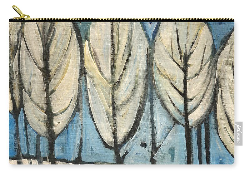 Frost Carry-all Pouch featuring the painting Frosted Trees by Tim Nyberg
