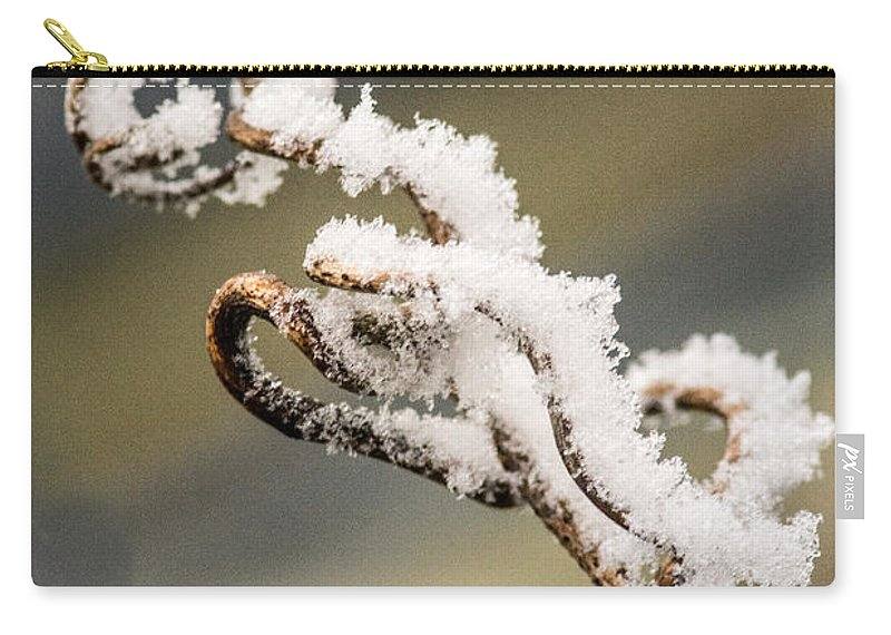 Frosty Carry-all Pouch featuring the photograph Frosty Curlique With A Twist by Douglas Barnett