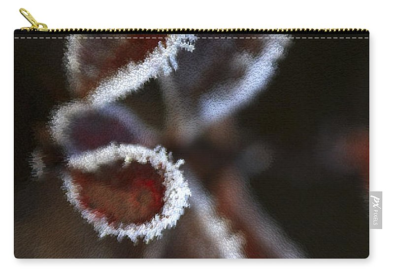 Frost Carry-all Pouch featuring the photograph Frosty Leafs by Deborah Benoit