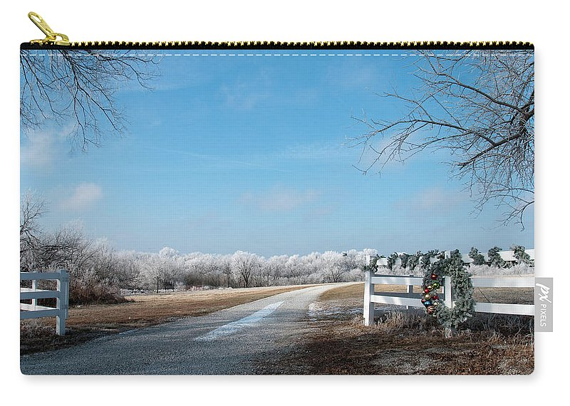 Landscape Carry-all Pouch featuring the photograph Frosty Wreath by David Arment