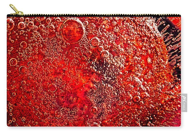 Abstract Carry-all Pouch featuring the photograph Frozen Balls Four by Bob Orsillo