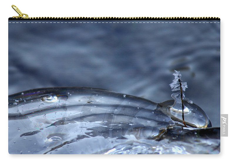 Ice Carry-all Pouch featuring the photograph Frozen In Time by Donna Blackhall