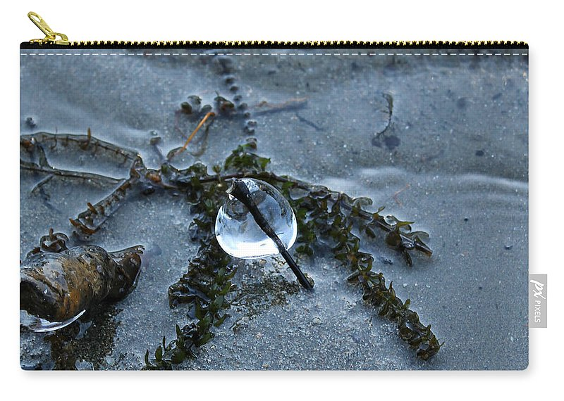 Ice Carry-all Pouch featuring the photograph Frozen In Time by Margre Flikweert