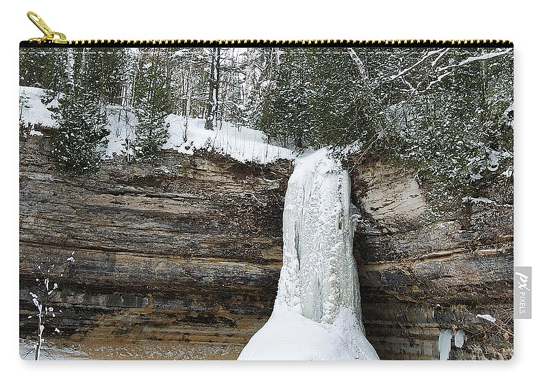 Landscape Carry-all Pouch featuring the photograph Frozen In Time by Michael Peychich
