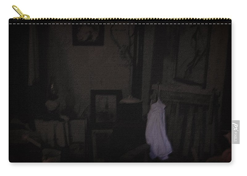 Nightie Carry-all Pouch featuring the photograph Frozen In Time by Everything Morbid Photography