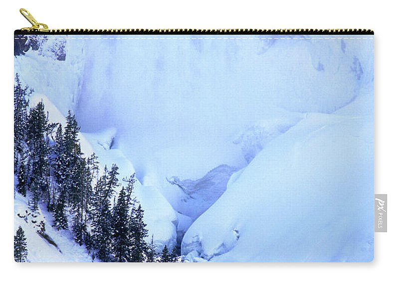 North America Carry-all Pouch featuring the photograph Frozen In Time Yellowstone National Park by Dave Welling
