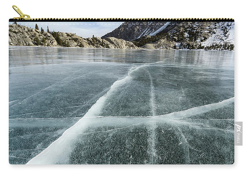 Landscape Carry-all Pouch featuring the photograph Frozen Lake In The High Sierra by Evver Gonzalez