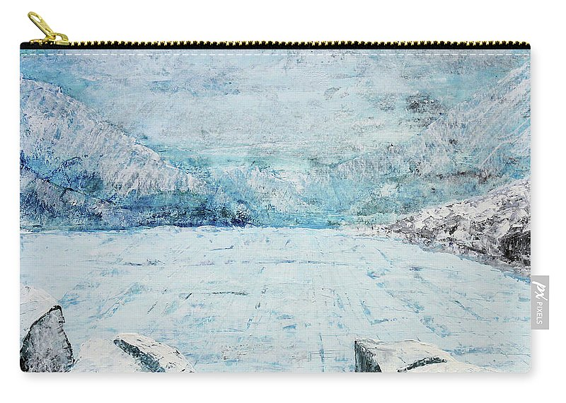 Lake Carry-all Pouch featuring the painting Frozen Lake by Morten Hjerpsted