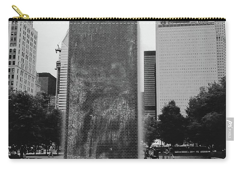Millenium Park Carry-all Pouch featuring the photograph Frozen by Margaret Fronimos
