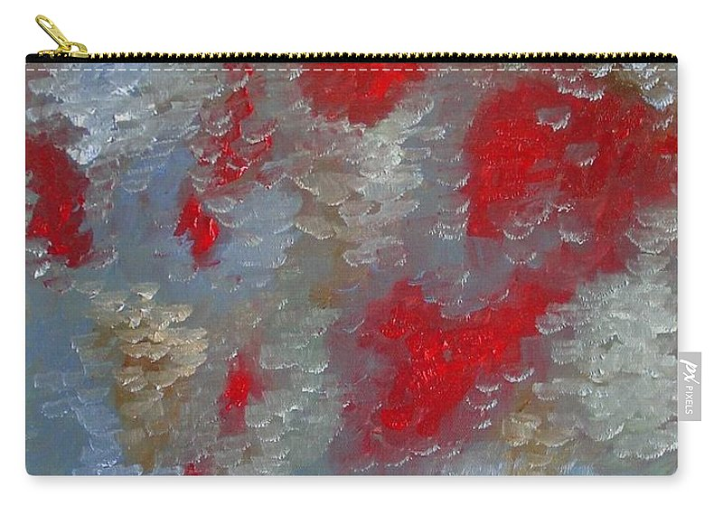 Abstract Carry-all Pouch featuring the painting Frozen Street by Laurie Morgan