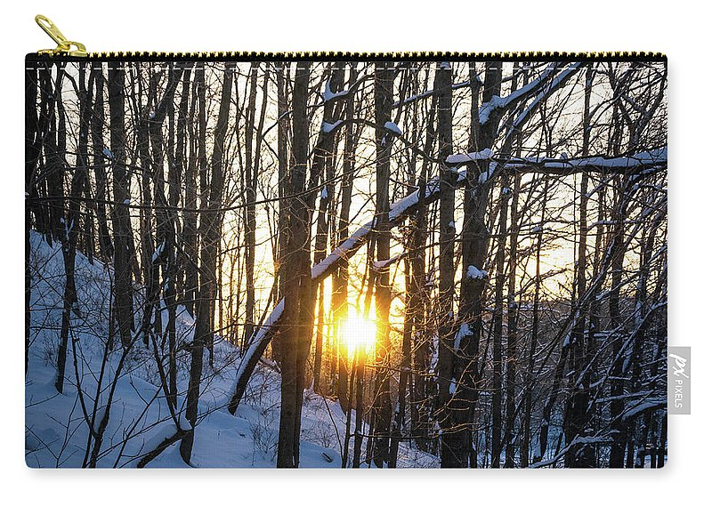 Local Parks Carry-all Pouch featuring the photograph Frozen Sun by Aaron Geraud