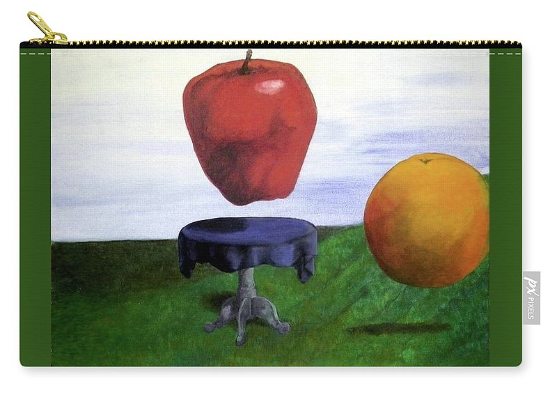 Still Life Carry-all Pouch featuring the painting Fruit Assemblage by Corey Jenny