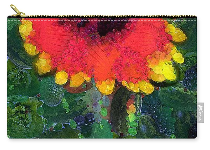 Arcimboldo Carry-all Pouch featuring the painting Fruit Salad Flower by RC DeWinter