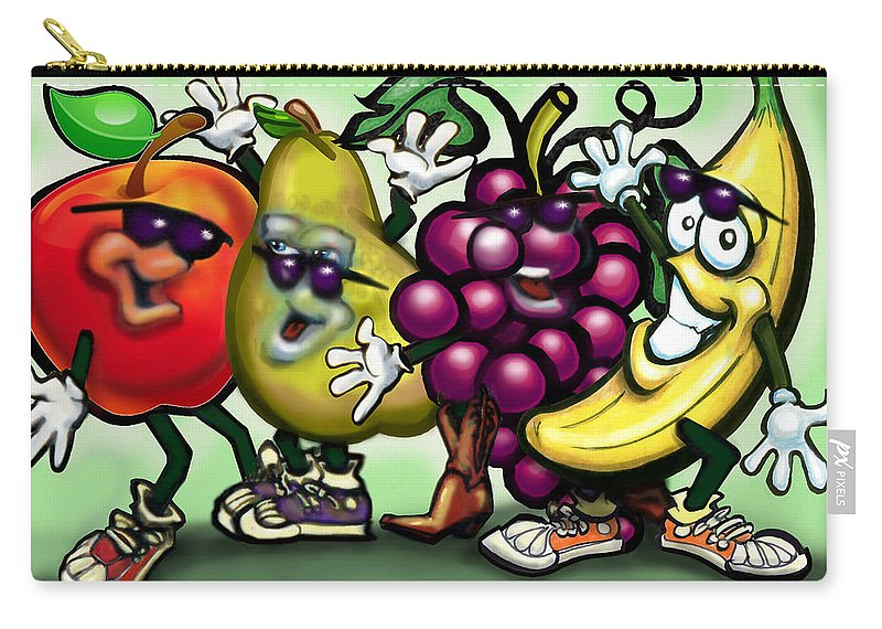 Fruit Carry-all Pouch featuring the painting Fruits by Kevin Middleton