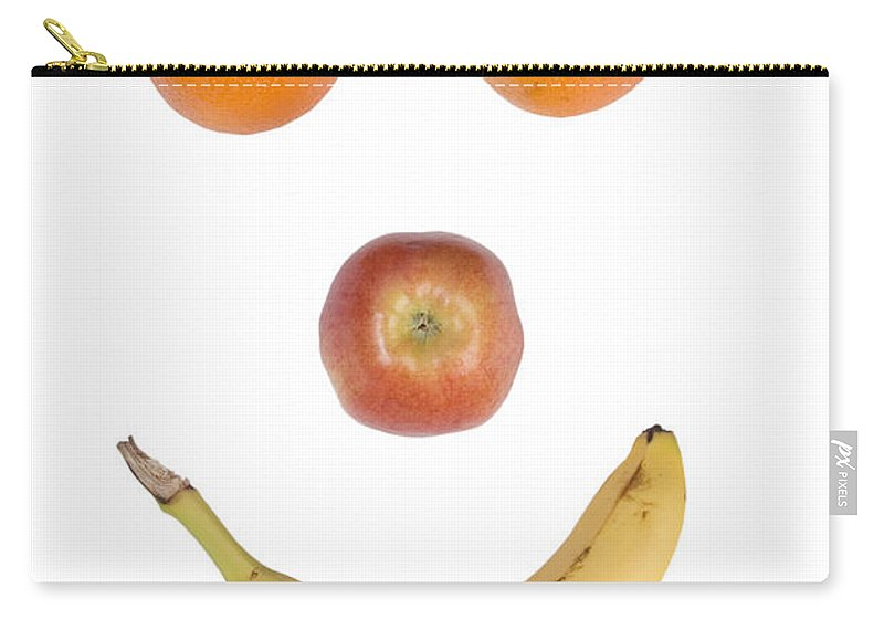 Fruit Carry-all Pouch featuring the photograph Fruity Happy Face by James BO Insogna