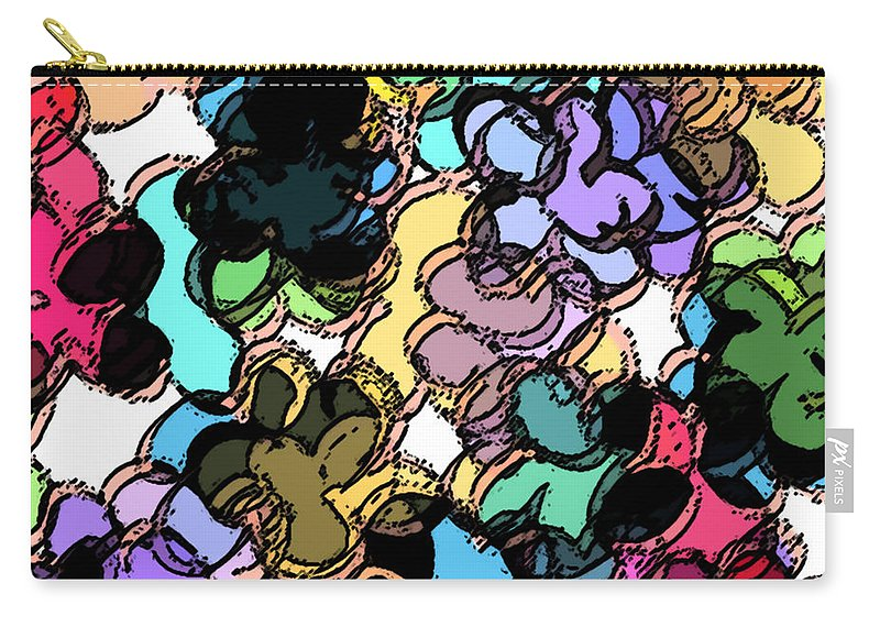 Abstract Carry-all Pouch featuring the digital art Fruity by Rachel Christine Nowicki