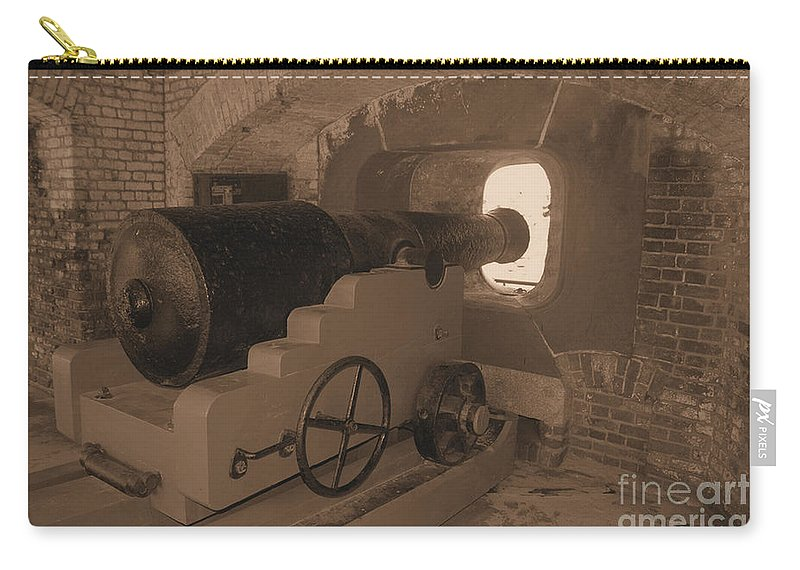 Fort Sumpter Carry-all Pouch featuring the photograph Ft Sumpter Battery by Tommy Anderson