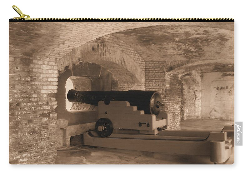 Fort Sumpter Carry-all Pouch featuring the photograph Ft Sumpter Defense by Tommy Anderson