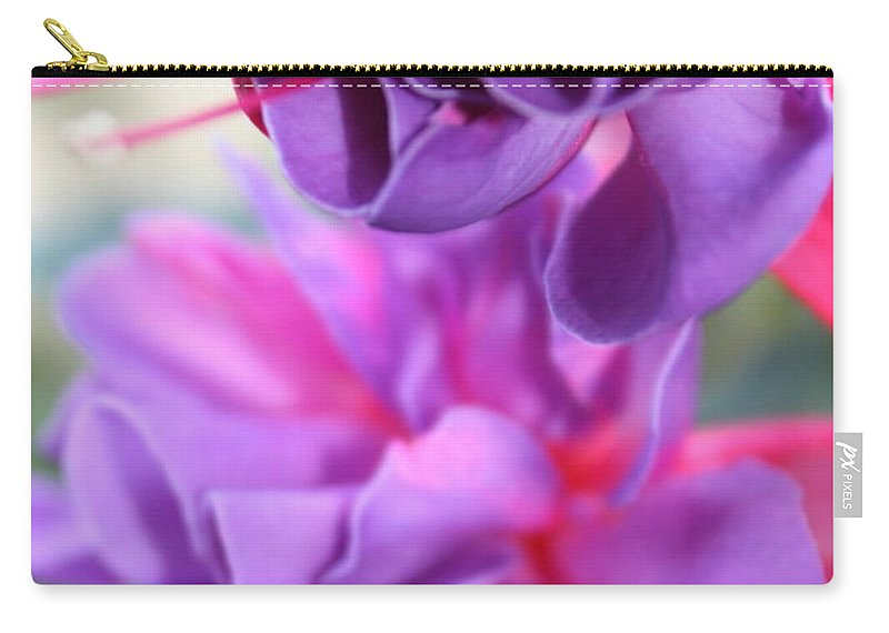 Florals Carry-all Pouch featuring the photograph Fuchsia Drama by Carol Groenen