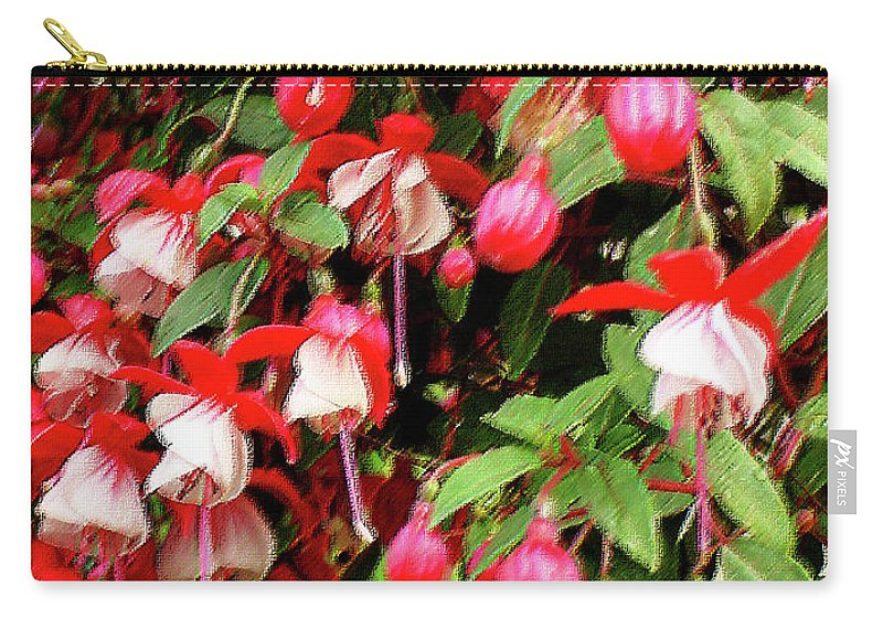 Group Carry-all Pouch featuring the mixed media Fuchsia Pastel by Shirley Heyn