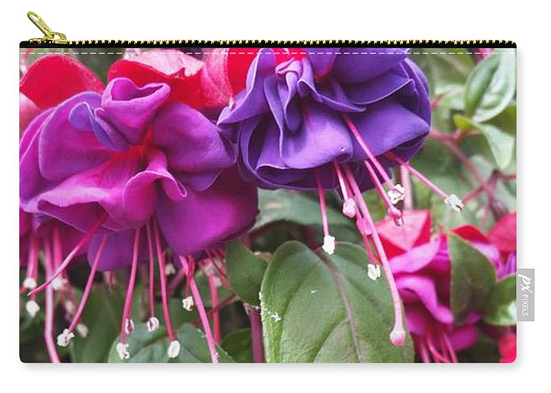 Fuchsia Flowers Spring Carry-all Pouch featuring the photograph Fuchsia by Valerie Josi