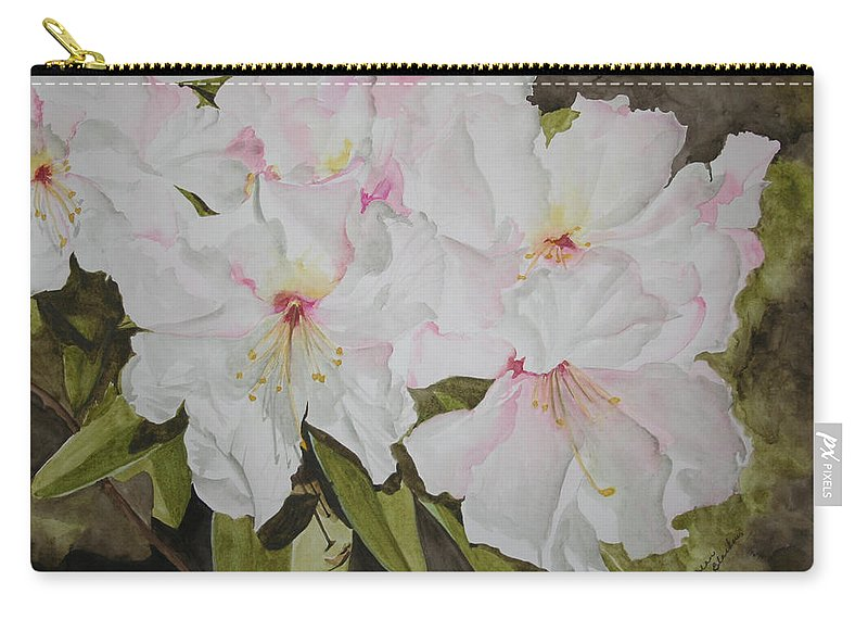 Flowers Carry-all Pouch featuring the painting Full Bloom by Jean Blackmer