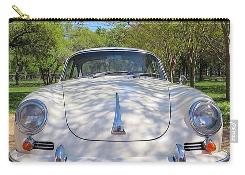 Caroftheday Carry-all Pouch featuring the photograph Full-frontal by Austin Tuxedo Cat