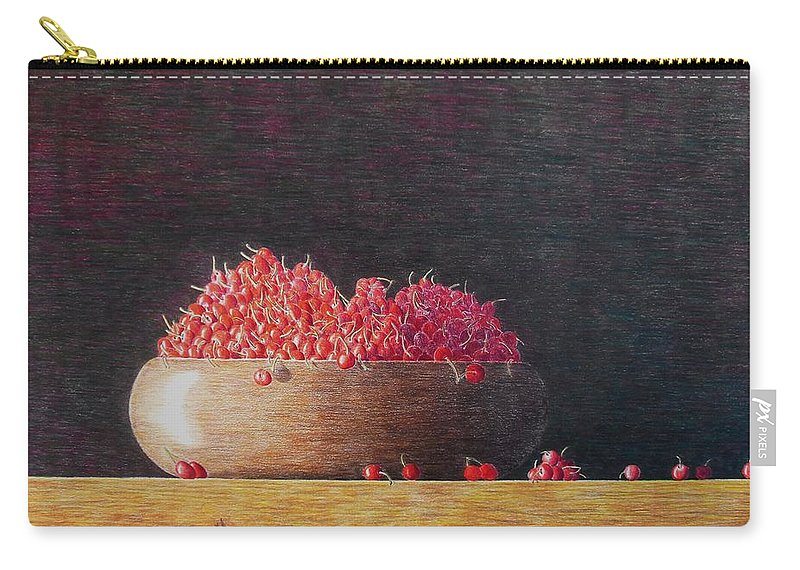 Still Life Carry-all Pouch featuring the painting Full Life by A Robert Malcom