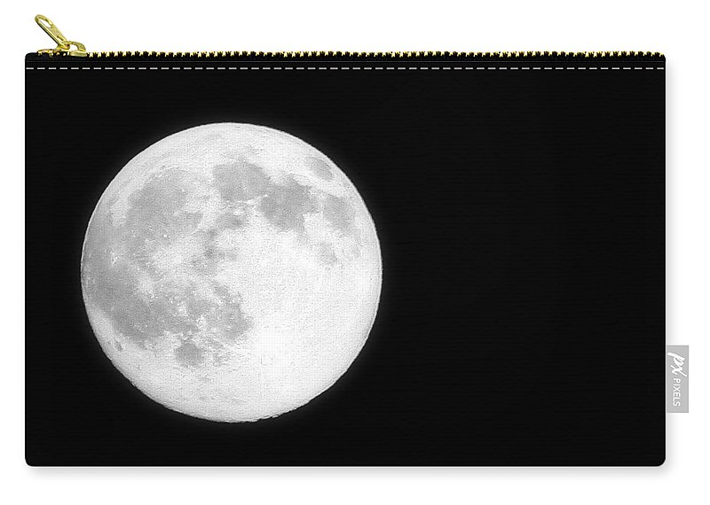 Moon Carry-all Pouch featuring the photograph Full Moon by Heather Gaines