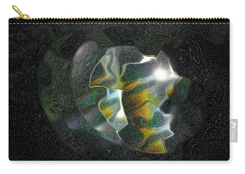 Abstract Carry-all Pouch featuring the photograph Abstract Full Moon by Kathy Moll