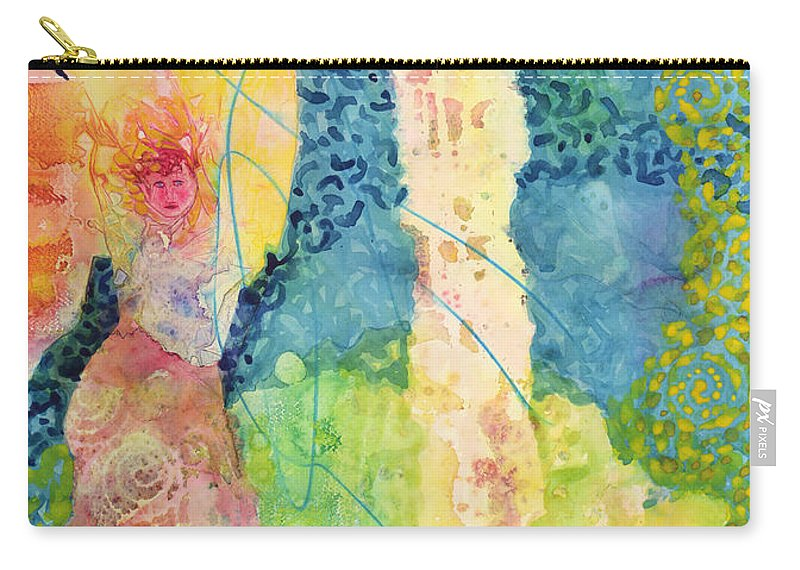 Moon Carry-all Pouch featuring the painting Full Moon by Lynda Hoffman-Snodgrass