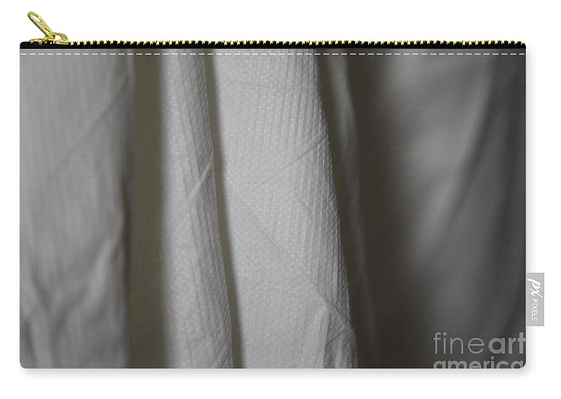 White Carry-all Pouch featuring the photograph Full Of Empty - Sleep by Amanda Barcon