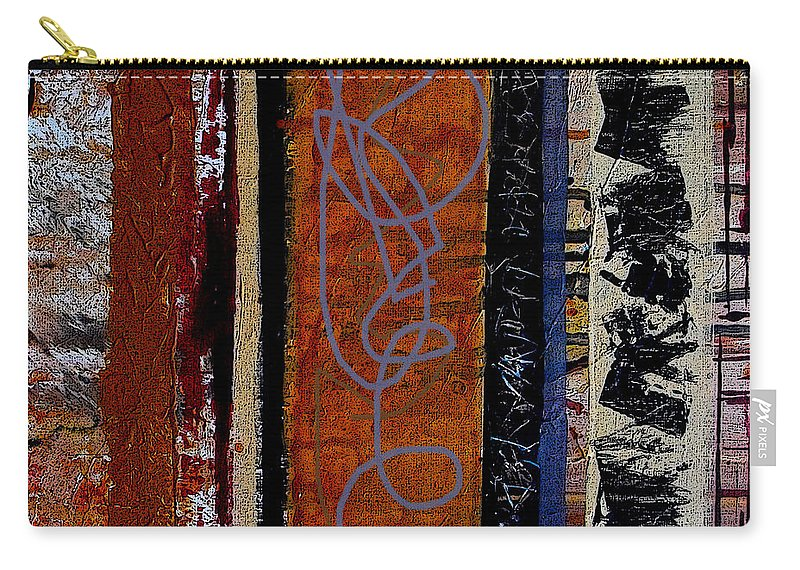 Abstract Carry-all Pouch featuring the mixed media Full Of Surprises by Ruth Palmer