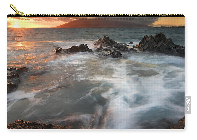 Cauldron Carry-all Pouch featuring the photograph Full To The Brim by Mike Dawson
